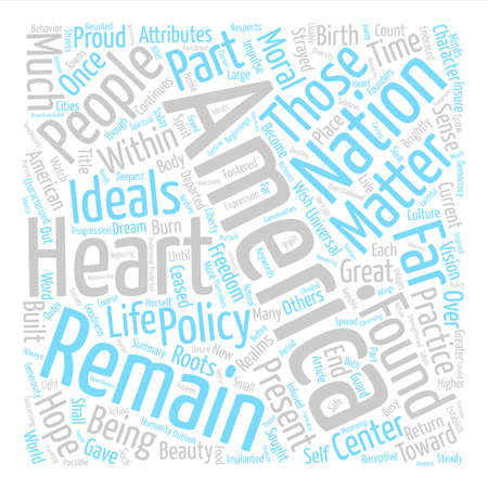 I Am America text background word cloud concept Illustration