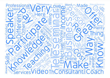 How To Do A Teleseminar text background word cloud concept