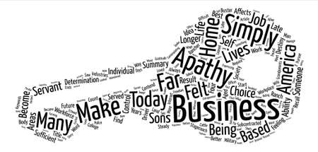 apathy: Home based Business The Apathy Buster Word Cloud Concept Text Background