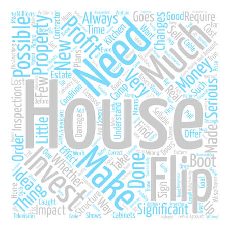 boast: House Flip Boot Camp text background word cloud concept Illustration