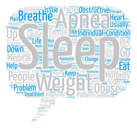weighty: Sleep Apnea A Weighty Issue text background word cloud concept