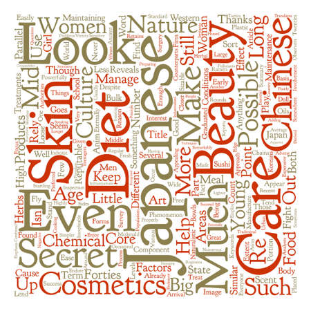 eternally: Look Like You re Eternally Young With Japanese Skin Care text background word cloud concept