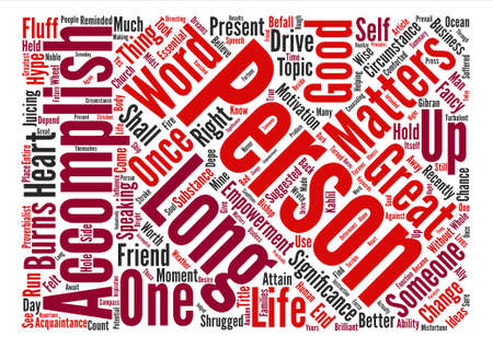 The Significance Of A Person Word Cloud Concept Text Background