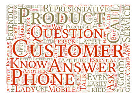 disposition: The Double A s In Customer Service text background word cloud concept
