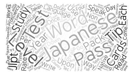 Pass The Japanese Language Proficiency Test Tips Word Cloud Concept Royalty Free Cliparts Vectors And Stock Illustration Image 73730958