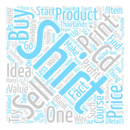 Ordinary product Added value Increased Profits Word Cloud Concept Text Background
