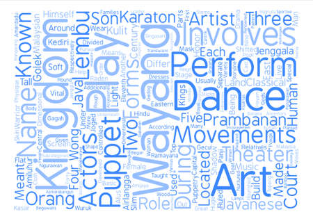 Malaysian Theater Arts Word Cloud Concept Text Background