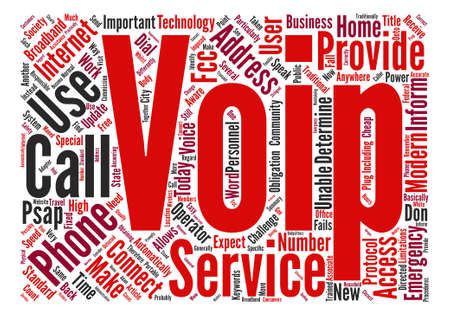 摘要: VoIP And Calls text background word cloud concept