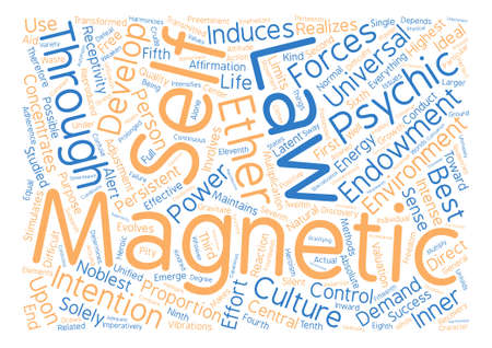 LAWS OF MAGNETIC DEVELOPMENT text background word cloud concept Illustration