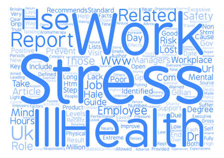 Stress Work text background word cloud concept