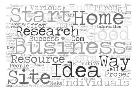 flexible business: How To Research Home Business Ideas Word Cloud Concept Text Background