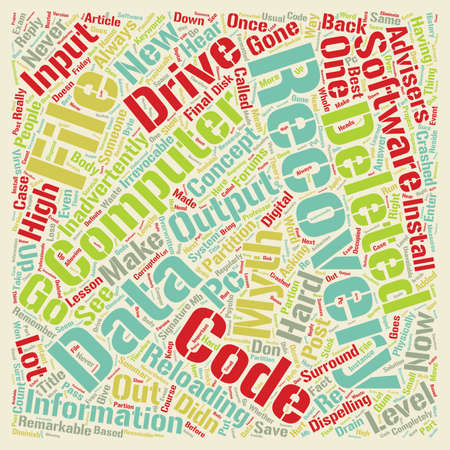 Computer Data Recovery text background wordcloud concept