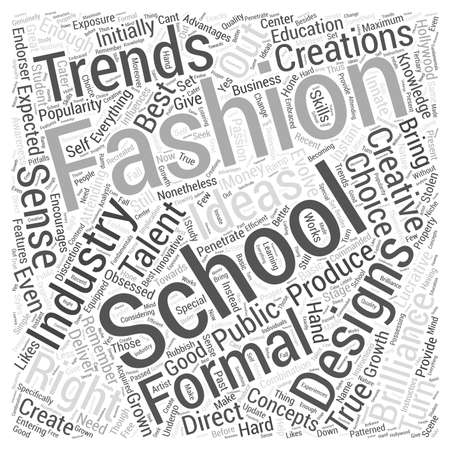 attending: Fashion schools Word Cloud Concept