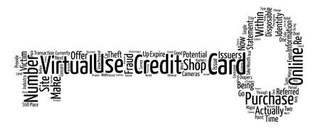 Disposable Credit Card Numbers text background word cloud concept