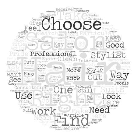 Cauchemars Salon de coiffure Voici comment choisir un bon concept de nuage de mot fond texte