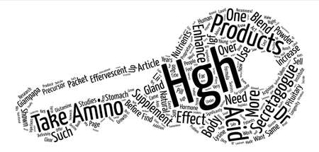 HGH Enhancers text background word cloud concept