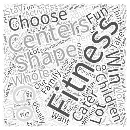 centers: fitness centers Word Cloud Concept Illustration