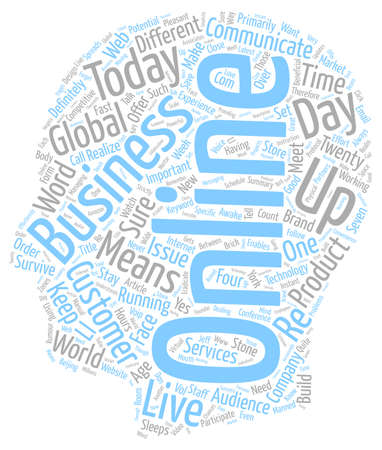 How To Make It In An Online Business text background wordcloud concept