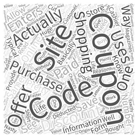 encountered: coupon codes Word Cloud Concept Illustration