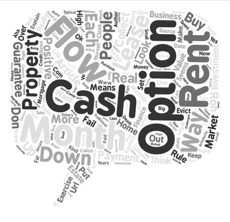 Guaranteed Cash Flow text background word cloud concept