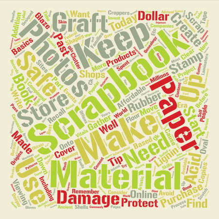 How to Safe Keep Scrapbooks and Crafts text background word cloud concept