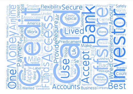 Offshore Credit Cards text background word cloud concept