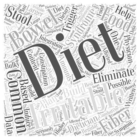 bowel: Common Diets for Irritable Bowel Syndrome Word Cloud Concept Illustration