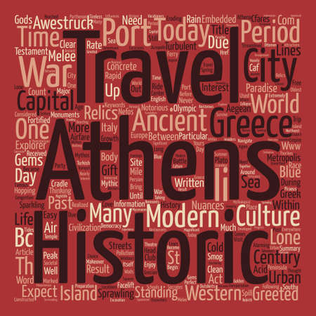Travel To Athens A Gift From The Gods Word Cloud Concept Text Background