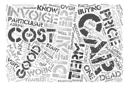 maybe: What Exactly Is Dealer Invoice text background word cloud concept Illustration