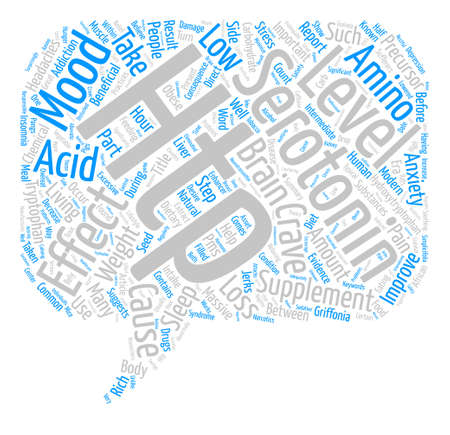 Improve Your Mood with HTP Supplements text background word cloud concept