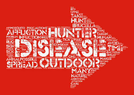 be ill: disease and hunters dlvy text background word cloud concept