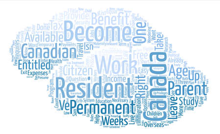 Travel to Canada but Should You Become A Canadian Resident text background word cloud concept