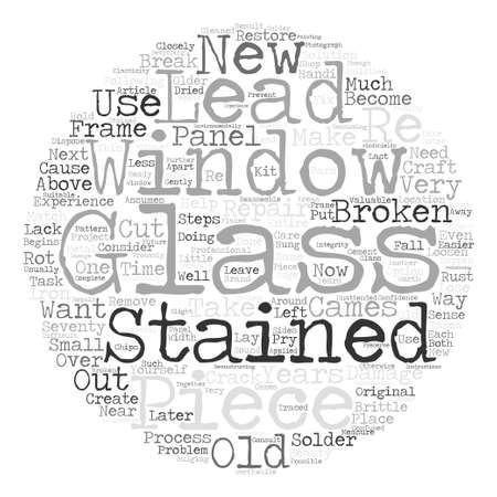 귀하의 스테인드 글라스 창 텍스트 배경 단어 구름 개념을 복구하는 방법