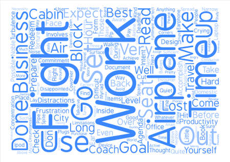 be lost: The Airplane as Your Office Word Cloud Concept Text Background