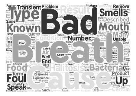 unable: The Facts About Bad Breath Word Cloud Concept Text Background Illustration
