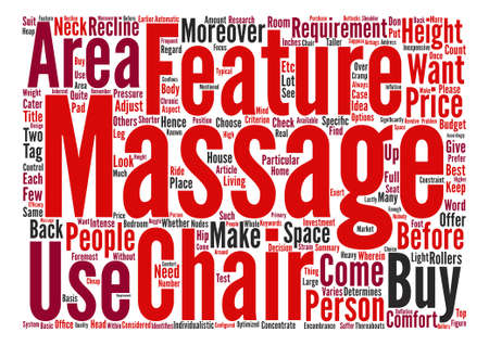 Massage Chairs text background word cloud concept Illustration