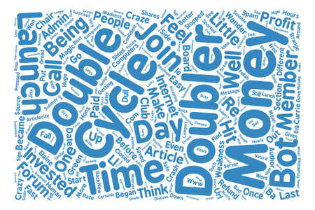 Money Doubler Madness text background word cloud concept