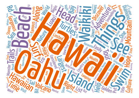 Things To Do In Oahu Hawaii text background word cloud concept