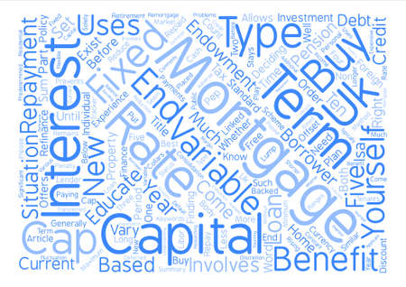 What You Need To Know About Uk Mortgages Word Cloud Concept Text Background