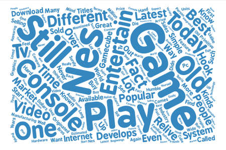 relive: Nes game system Word Cloud Concept Text Background Illustration