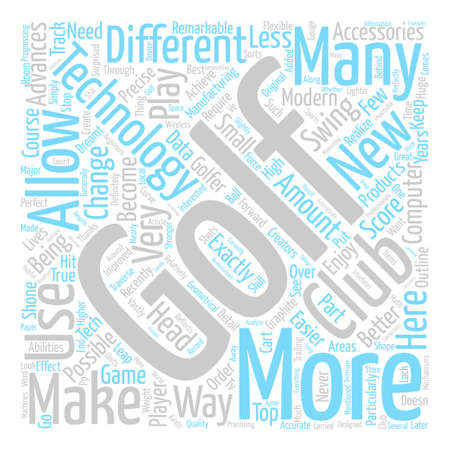 The Top High Tech Golf Accessories Word Cloud Concept Text Background