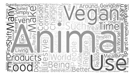 Veganism and Animals Word Cloud Concept Text Background Illustration