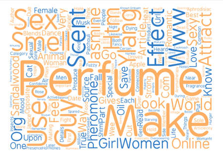 How Perfumes Make You Sexy text background word cloud concept