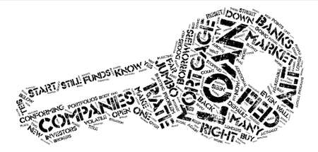 Volatile Mortgage Market text background word cloud concept