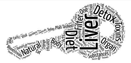tasked: Liver Detox Diet Word Cloud Concept Text Background