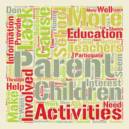 How To Get Parents Involved With School Activities Word Cloud Concept Text Background