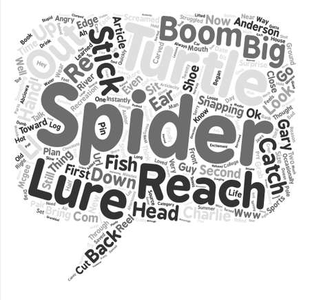 charlie: Spider s Big Catch text background word cloud concept