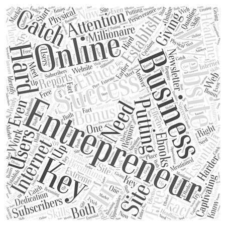 Entrepreneur website Word Cloud Concept