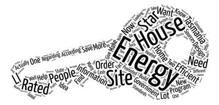 tasmania house energy star ratings text background word cloud concept Illustration
