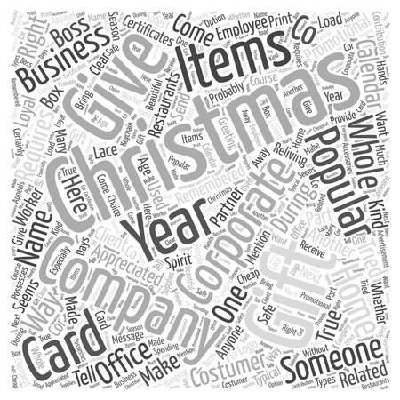 Corporate christmas gift Word Cloud Concept